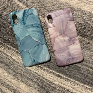 PINK FLAMINGO (2) Silicone Marble iPhone XR Cases